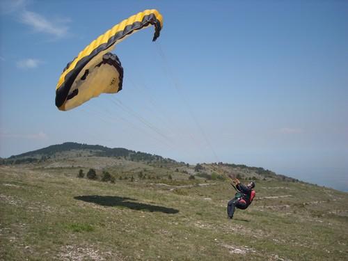 Paragliding vzlet