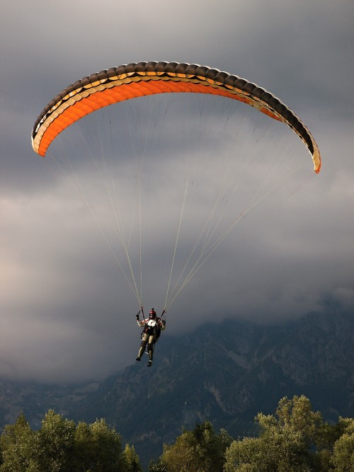 Paraglading přistání