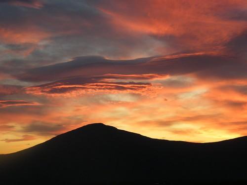 Skotsko západ slunce