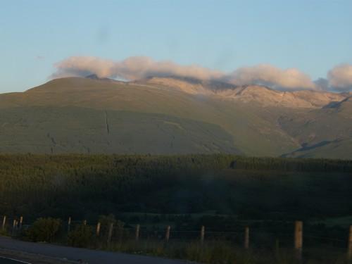 Skotsko hory a mraky