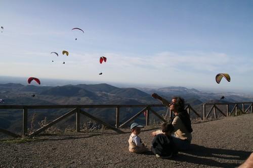 Španělsko 2009 - paraglidng rodina