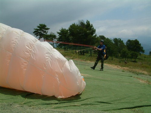 Paragliding v Anglii