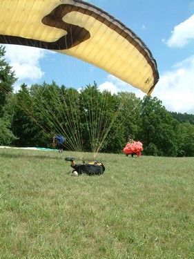Paragliding - Pycha predchazi pad