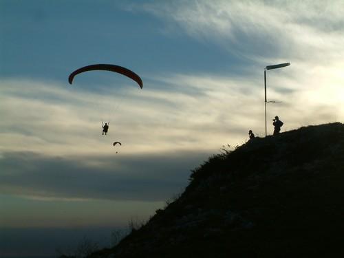 Paragliding - Podvecerni letani