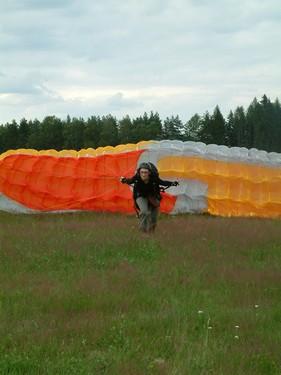 Paragliding - Predni start